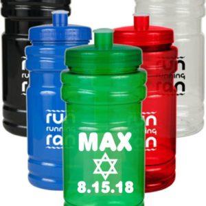 Custom Printed 20 oz. Water Bottles with Push Cap - Printed Full Color 2
