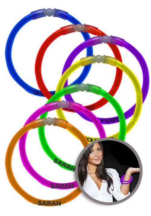Custom Printed 8-single-color-superior-light-up-glow-bracelets - Printed 1 Color 1
