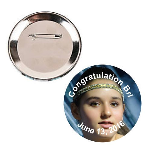 Custom Printed Large Custom Photo Buttons - Printed Full Color 1
