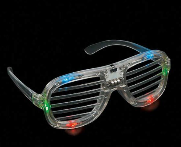 Light-Up LED Shutter Glasses mitzvahmart.com