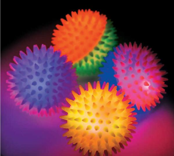 Light-Up Two-Tone Bouncy Ball Assortment mitzvahmart.com