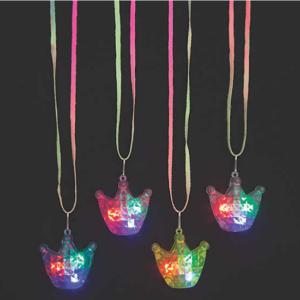 mitzvahmart.com Light-Up Crown Necklaces