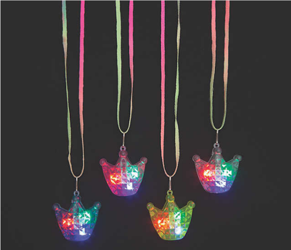 mitzvahmart.com Light-Up Crown Necklaces