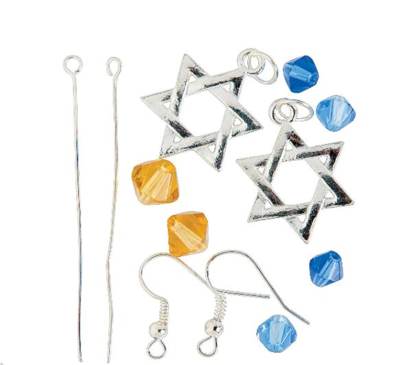 Star of David Earrings Craft Kit 2