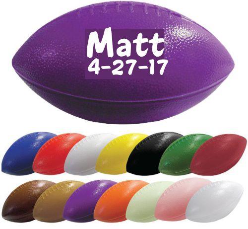 Custom Printed Football Stress Balls - Printed 1 Color 1