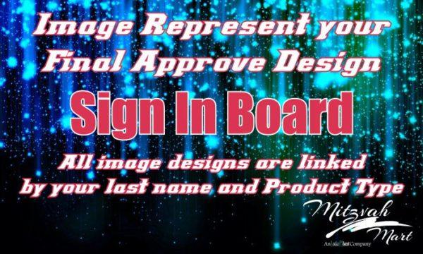 Custom Printed Sign In Board